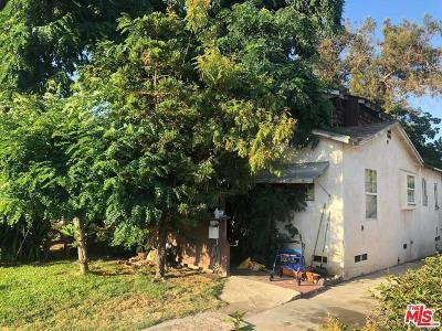 Burbank Single Family Home Active Under Contract: 1724 North Buena Vista Street