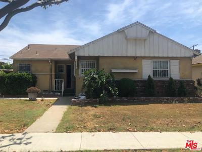 Inglewood Single Family Home Active Under Contract: 2326 West 108th Street