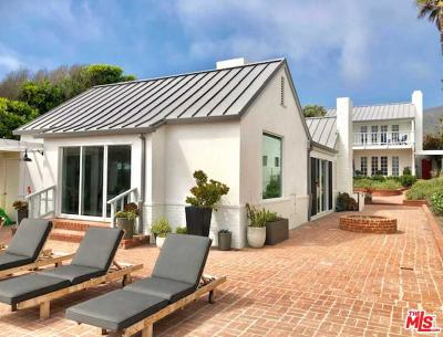 Malibu Single Family Home For Sale: 30830 Broad Beach Road