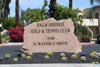 Palm Springs Condo/Townhouse Active Under Contract: 5300 East Waverly Drive #G2
