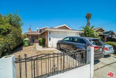 Los Angeles Single Family Home For Sale: 3479 West 67th Street