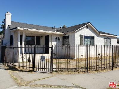 Los Angeles Single Family Home For Sale: 12600 South San Pedro Street