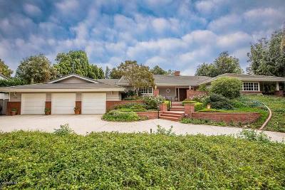 Camarillo Single Family Home For Sale: 1400 Ramona Drive