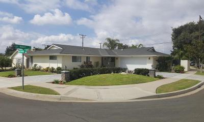 Camarillo Single Family Home For Sale: 1980 Hobart Drive