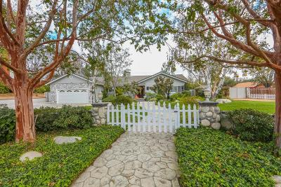 Thousand Oaks Single Family Home For Sale: 1972 Montgomery Road