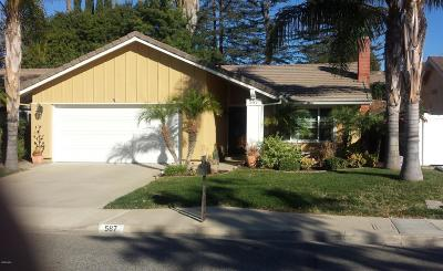 Thousand Oaks Single Family Home For Sale: 587 Calle Del Sur