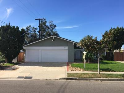 Camarillo Single Family Home For Sale: 893 Brently Avenue