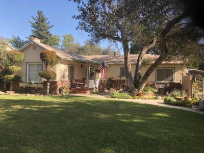 Santa Paula Single Family Home For Sale: 1204 Forest Drive