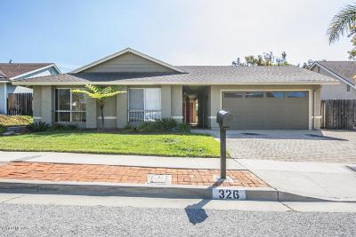 Ventura Single Family Home For Sale: 326 Heidelberg Avenue