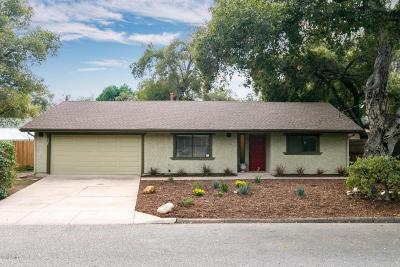 Ojai Single Family Home For Sale: 325 El Conejo Drive