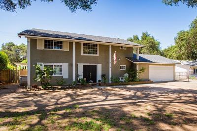Ojai Single Family Home For Sale: 1234 Mariano Drive