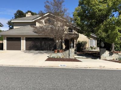 Agoura Hills Single Family Home Sold: 5640 Buffwood Place