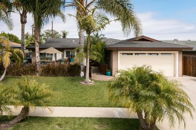 Ventura Single Family Home For Sale: 2136 Antelope Avenue