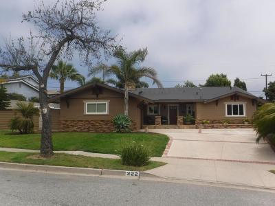 Ventura Single Family Home For Sale: 222 Parsons Avenue