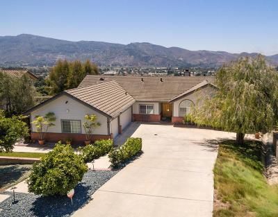 Santa Paula Single Family Home For Sale: 622 Lassen Drive
