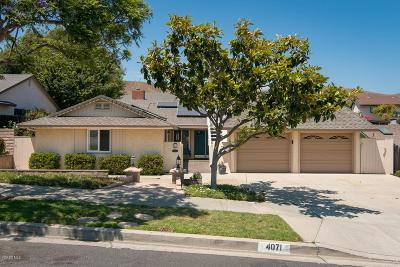 Ventura Single Family Home For Sale: 4071 Doane Street