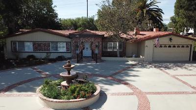 Thousand Oaks Single Family Home For Sale: 1461 El Monte Drive