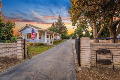 Santa Paula Single Family Home For Sale: 14859 West Telegraph Road
