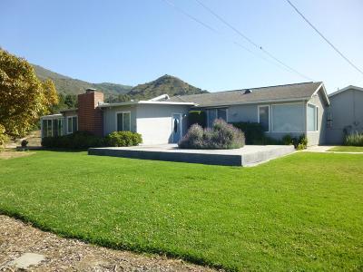Santa Paula Single Family Home For Sale: 17896 South Mountain Road
