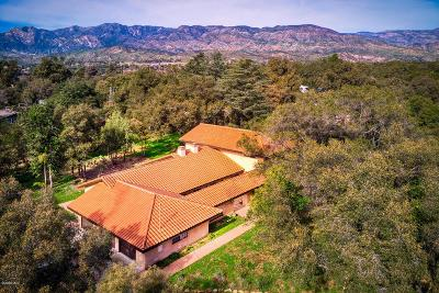 Ojai Single Family Home For Sale: 1445 South Rice Road