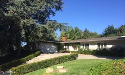 Thousand Oaks Single Family Home For Sale: 2507 Hood Drive
