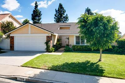Thousand Oaks Single Family Home For Sale: 1796 Summer Cloud Drive