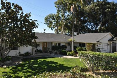 Ventura Single Family Home For Sale: 1291 Colina Vista