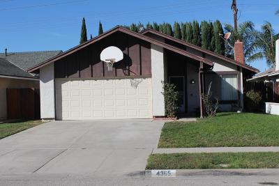 Moorpark Single Family Home For Sale: 4365 Woodglen Drive