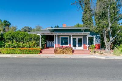 Ojai Single Family Home For Sale: 102 West Matilija Street