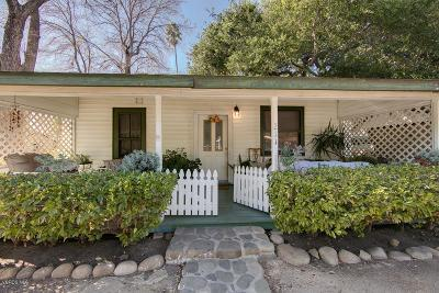 Ojai Single Family Home Active Under Contract: 211 Fox Street