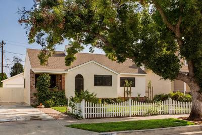Burbank Single Family Home Active Under Contract: 1508 North Valley Street