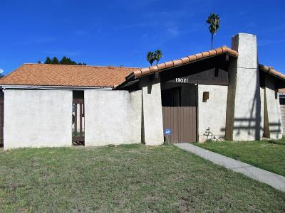 Single Family Home For Sale: 19021 Roscoe Boulevard