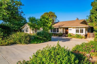 Thousand Oaks Single Family Home For Sale: 1120 Calle Las Trancas