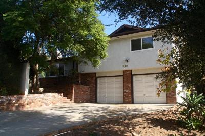 Ojai Single Family Home For Sale: 940 El Centro Street