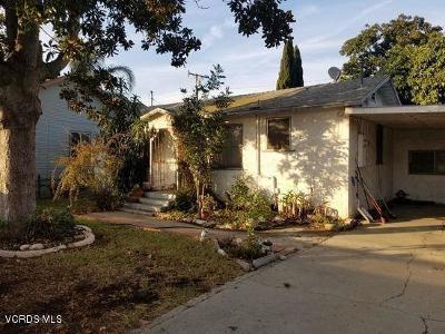 Ventura Single Family Home For Sale: 185 Comstock Drive