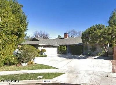 Encino Single Family Home For Sale: 17600 Tarzana Street