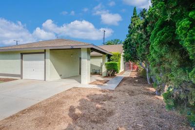 Santa Paula Single Family Home For Sale: 525 West Santa Barbara Street