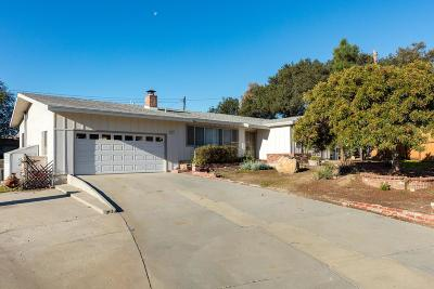 Ojai Single Family Home For Sale: 669 Telsa Street