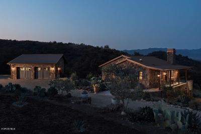 Ventura Single Family Home For Sale: 10999 Santa Ana Road