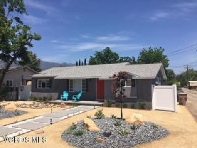 Ojai Single Family Home For Sale: 110 Park Road