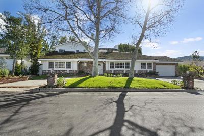 Encino Single Family Home Active Under Contract: 16320 Meadowridge Road