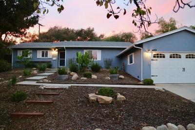 Ojai Single Family Home Active Under Contract: 429 Vallerio Avenue