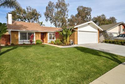 Ventura Single Family Home For Sale: 7239 Chamois Street