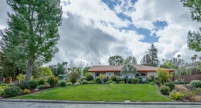 Thousand Oaks Single Family Home Active Under Contract: 1592 El Dorado Drive