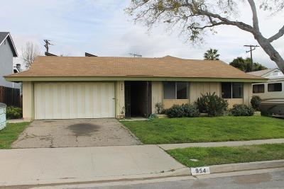 Ventura Single Family Home For Sale: 954 Gardner Avenue