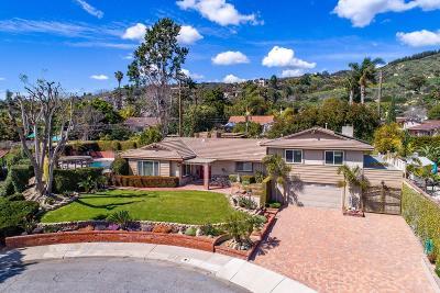 Camarillo Single Family Home Active Under Contract: 1021 Wayside Circle
