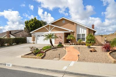 Camarillo Single Family Home Active Under Contract: 2087 El Rancho Drive
