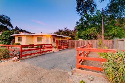 Ojai Single Family Home For Sale: 150 South La Luna Avenue