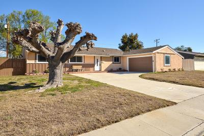 Simi Valley CA Single Family Home Active Under Contract: $489,000