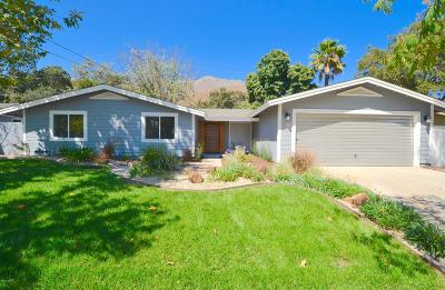Ojai Single Family Home For Sale: 522 Pleasant Avenue